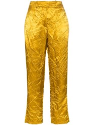 Sies Marjan Willa Crinkled Trousers Yellow