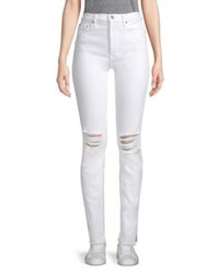 Cotton Citizen High Rise Distressed Skinny Jeans White