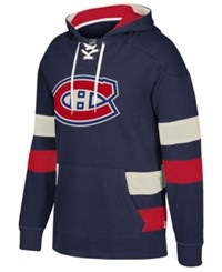 Ccm Montreal Canadiens Pullover Jersey Hoodie Navy