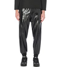 Astrid Andersen Elasticated Cuff Patent Trousers Black