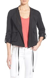 Women's Halogen Soft Collarless Jacket Black
