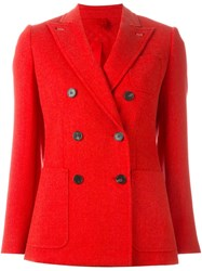 Max Mara Double Breasted Jacket Red