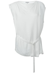 Ann Demeulemeester Blanche Buckle Strap Sleeveless Top White