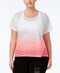 Material Girl Active Plus Size Ombre Burnout T Shirt Only At Macy's Flashmode