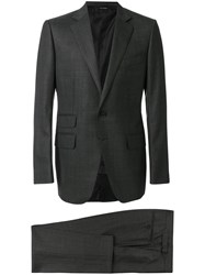Tom Ford Two Piece Suit Silk Cupro Wool Grey