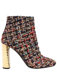 Casadei 100Mm Metallic Heel And Boucle Ankle Boots