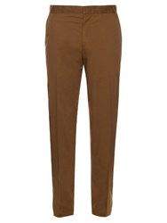 Lanvin Slim Leg Cotton Chino Trousers Khaki
