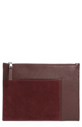 Treasure And Bond Dani Suede Leather Pouch Burgundy Burgundy Fig