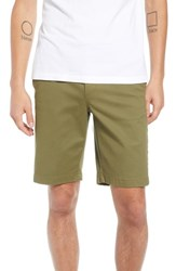 The Rail Flat Front Shorts Olive Burnt