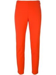 Msgm Cropped Trousers Yellow Orange