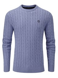 Henri Lloyd Men's Kramer Regular Crew Neck Knit Jumper Blue