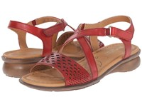 Naturalizer Janessa Red Pepper Leather Women's Dress Sandals