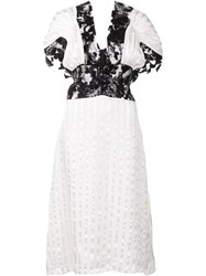 Rodarte Lace Insert Dress White