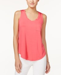Maison Jules Pocket Tank Top Only At Macy's Diva Pink