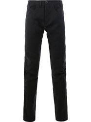 Label Under Construction Straight Trousers Black