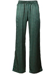 Faith Connexion Printed Loose Fit Trousers Green