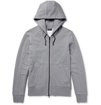 Belstaff Fleming Loopback Cotton Jersey Zip Up Hoodie Gray
