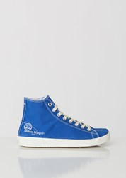 Maison Martin Margiela High Top Tabi Sneakers Mazarine Blue