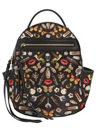 Alexander Mcqueen Small Obsession Printed Silk Backpack