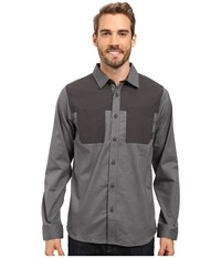 Mountain Hardwear Stretchstone Utility Long Sleeve Shirt Shark Men's Long Sleeve Button Up Gray