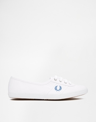 Fred Perry Aubrey Canvas White Plimsoll Trainers