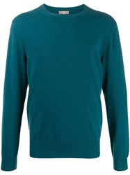 N.Peal The Oxford Round Neck Jumper Green