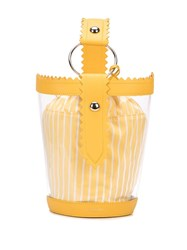 Sara Battaglia Clear Bucket Bag Yellow