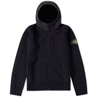 Stone Island Hooded Cardigan Black