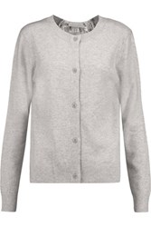Clu Lace Paneled Wool And Cashmere Blend Cardigan Gray