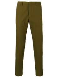 Msgm Striped Side Trousers Green
