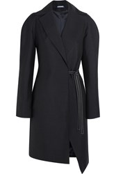 Jacquemus Wool Wrap Coat Navy