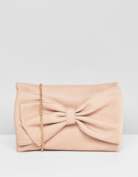 Oasis Occasion Bow Front Cross Body Bag Beige