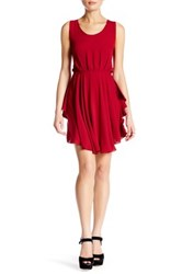 Angie Open Back Dress Red
