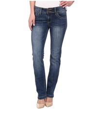 Kut From The Kloth Straight Leg Double Button In Sedate Wash Medium Base Wash Sedate Wash Medium Base Wash Women's Jeans Blue