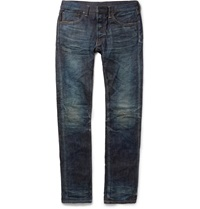 Fabric Brand And Co Doran Slim Fit Japanese Selvedge Denim Jeans Blue