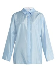 Nina Ricci Long Sleeved Silk Shirt Light Blue