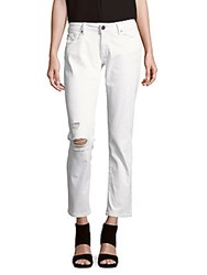 Dl1961 Distressed Cropped Jeans Mania White