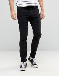 Lee Malone Super Skinny Jeans Ink Black Black