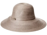Karen Kane Lux Braid Wide Brim Floppy Taupe Heather Caps