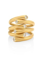Carelle Whirl Diamond And 18K Yellow Gold Ring