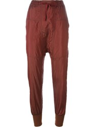 Isabel Marant Drop Crotch Trousers Red