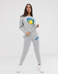 Juicy Couture By Lemon Logo Jogger Grey