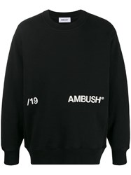 Ambush Logo Print Sweatshirt Black
