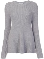 Grey Jason Wu Crew Neck Jumper Grey