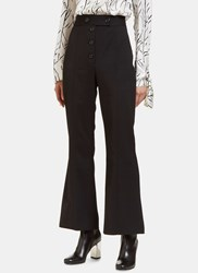 Proenza Schouler High Waisted Flared Pants Black