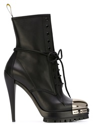 Casadei High Heel Lace Up Boots Black