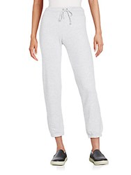 Splendid Cropped Sweatpants Heather Grey