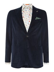 Simon Carter Cord Cotton Jacket Blue