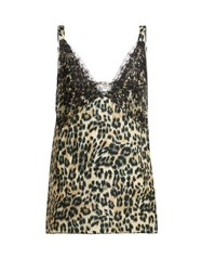 Icons Orchid Leopard Print Silk Camisole Leopard