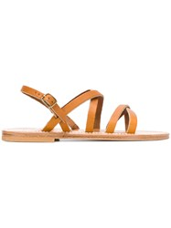 K. Jacques Interwoven Flat Sole Sandals Nude And Neutrals